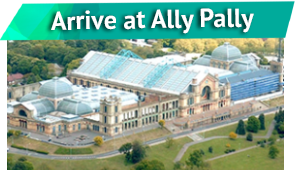 Arrive at Ally Pally